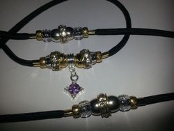 Purple dangle with Gold and Silver!