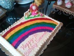 Princess Fairy & Rainbow Cake