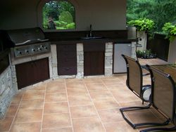 Outdoor Kitchen on a tile deck