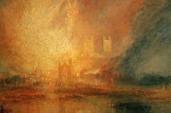 Turner, Birning of the Houses of Parliament, detail, Philadelphia