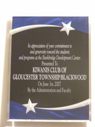Bankbridge Recognition Plaque