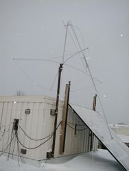 Our not-so-vertical HF vertical antenna