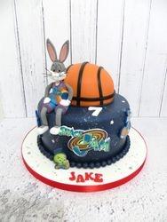 Space Bunny Birthday Cake