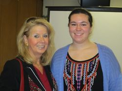 Trish Conley with Girl Scout Ambassador, Eleanor Eaton