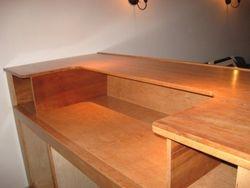 Custom charry wood bar