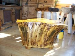 occasionally we have   tree stumps, which can be great as a small coffee-table