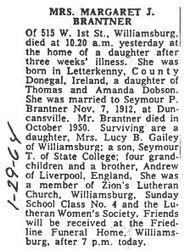 Brantner, Margaret J. Dobson 1964