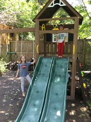 KidKraft Lindale swing set assembly in crofton Maryland
