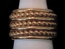 3 rope 14k gentlemens ring
