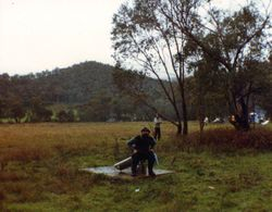 1989 'Not' the Alpine Rally @ Perkins Flat -  the old Dunny!