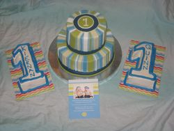 Twins 1st Birthday Cake