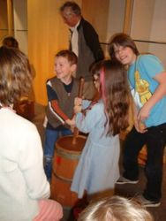 Churning butter in Old Vancouver!