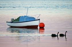 Boat n Sunset 1