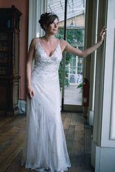 Bride in Window light .