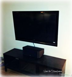 "A 46"" Flat screen TV wall mount installation"