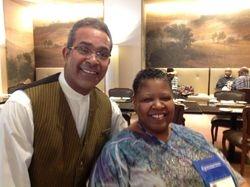 "Server, ""Ata"" and Pastor Chris at David Citadel Hotel"