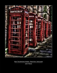 Red Telephone Boxes, Preston, England