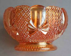 Pineapple sugar, rose bowl shape, pattern no.2349, marigold(sunglow). Sowerby