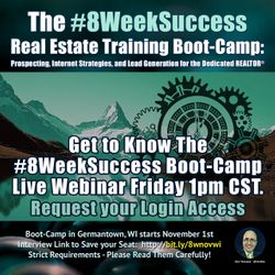 #8WeekSuccess - Get to Know the Boot-Camp - Live Webinar Today October 11th at 1pm CST