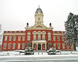 Union County Courthouse in Snow