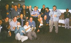 Members enjoying our 50th Birthday Party