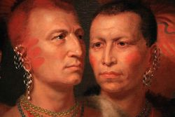 King, Plains Indian Chiefs, 1821, detail, Smithsonian