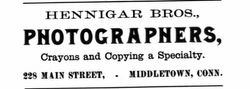 Hennigar Bros., photographers of Middletown, CT