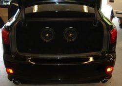 Custom Woofer Enclosure Box in a Lexus