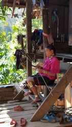 Tribal Woman working
