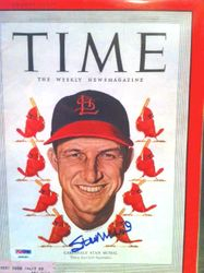 Time Magazine, September 5, 1949, Signed by Stan  Musial, PSA K98287
