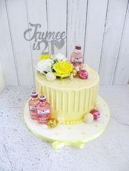 Jaimee's 21st Birthday Gin Drip Cake