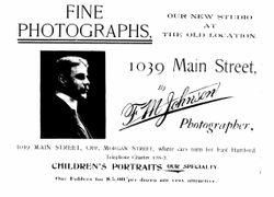 Frank M. Johnson, photographer, Hartford, CT