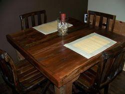 contemporary style cedar table