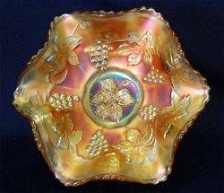 "Vintage 7"" ruffled bowl - marigold"