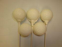 golf ball cake pops $3.50each