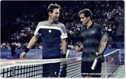 Tomas Berdych and Pierre-Hugues Herbert
