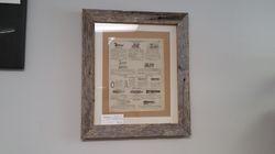 Barn Wood Framed Ad