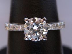 18ct/platinum solitaire