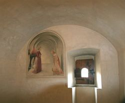 Fra Angelico, Annunciation, 1443-5, monk's cell, San Marco Monastery, Florence