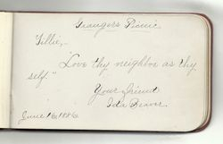 Autograph of Ida Beaver