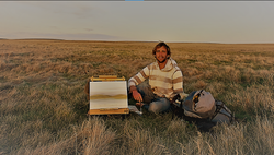 Painting Plein Air on the southern Alberta Prairie - May 2020