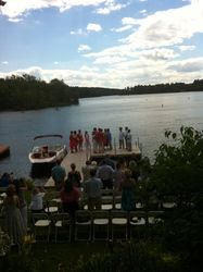 Wedding ceremony on the water