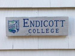 Endicott College sign