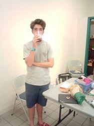 N., my Own Lttle Yogi helping with Yogis Camp 2014!