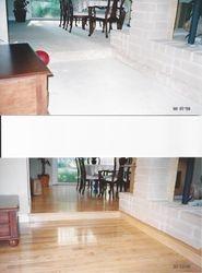 Hardwood Floor Installation: BEFORE & AFTER.