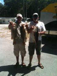 Winners of the 2nd Tournament of the season Bob Ellis and Ken Lane at East Lake Toho with 14.27lbs.