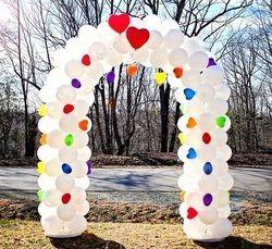 Balloon Arch for 80's Bridal Theme