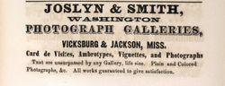 Joslyn & Smith, photographers of Vicksburg and Jackson, MI