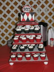 Red/Black Cupcake Tower