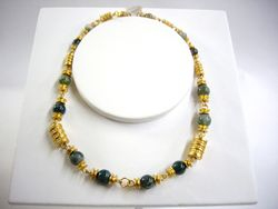 Collar de gata verde - Green agate necklace